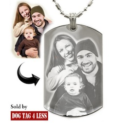 Photo Engraved Dog-Tag Necklace