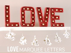 love marqee letters